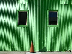 cone (Jef Poskanzer) Tags: cone corrugated green geotagged geo:lat=3781525 geo:lon=12228943 t