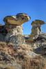 Badland Trail, Dinosaur Provincial Park, Alberta (aud.watson) Tags: canada alberta albertaprairie newellcounty dinosaurprovincialpark reddeerriver worldheritagesite sedimentaryrock aridregion grassland prairie badlands sandstone mudstone sandstonecliffs badlandtrail hoodoos canyons ravine ravines gully gullies iddesleigh landscape erosion ironstonecaprock popcorntexturedclay rill rills
