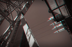 New York, New York (DDDavid Hazan) Tags: newyork newyorkcity ny nyc queens queensborobridge taxi gentlemensclub advertising cityscape bridge traffic anaglyph 3d 3danaglyph 3dstereophotography redcyan redcyan3d stereophotography stereo3d road sky architecture city cablecar cables