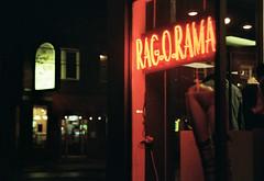Night Walk (Jetcraftsofa) Tags: nikonf3 nikkor5014 portra800 35mm slr filmphotography neon atnight availablelight walk about signage street