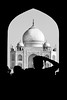 First impressions (Ebby62) Tags: blackwhite india taj mahal monochrome silhouette monument archway architecture
