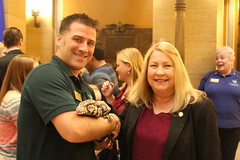 Sen Eaton at MN Zoo Day at the Capitol