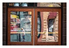 Distorted Reflections (Rick Olsen) Tags: reflection doors door glass reflections reflected fuji fujifilm xt2