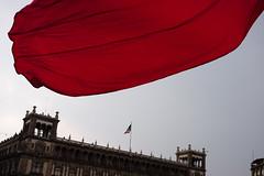 Mexico City (.sl.) Tags: mexico mexique streetphotography flag sky mexicocity publicplace
