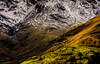 Light, Shadow and Snow (Peter Quinn1) Tags: lakedistrict 2017 langdale february cumbria snow landscape macro lightshadowandsnow mountain fellside slope sunshine green edgeofspring betweenwinterandspring abstract