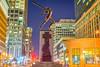 Katyń Memorial (harisankar) Tags: harisankar 2017 usa nj hsspublic nightlight nightphotography night city street katyńmemorial memorial statue jerseycity