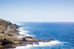 Rush (jonathanchue) Tags: honolulu hawaii unitedstates oahu coast coastline waves blue sky ocean highway road driving water island paradise