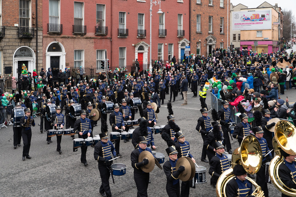 Legacy High School Lightning Marching Band [St. Patricks Day Parade 2018 In Dublin]-137532