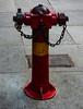 BS 750 Pillar Fire Hydrant With Landing Valves (Steve Taylor (Photography)) Tags: bs750 pillar firehydrant landingvalves manhole chain paving pavement grey red yellow metal asia city singapore clarkequay