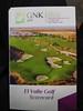 El Valle Golf Card (Bridgemarker Tim) Tags: marmenor golf games sport cards