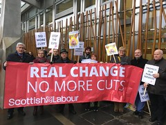 With Labour colleagues at Budget Day demo