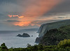 Pololu Valley Overlook (Explore #16) (mikeSF_) Tags: hawaii hawaiianislands pololu valley green sunrise sunset pano panorama pentax mikeoria k3ii outdoor travel trees tropical clouds r