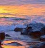 A MAUI SUNSET,  HAWAII. (vermillion$baby) Tags: beach cloud hawaii light maui ocean orange pacific sand seascape splash sunset surf wave waves yellow color sea seascapes water reflection bright gold sun flowerflickr flowwer closeup