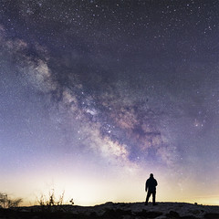 Shadow of a Million Suns (andrewpmorse) Tags: night milkyway star stars starscape silhouette dark darkness landscape landscapes sky nightsky skyscape canada ontario longexposure longpoint canon 50mmf18 human