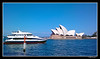 sailing in sidney harbor (harrypwt) Tags: harrypwt interesting sidney harbor operahouse coastal boats ship wharf blue water sea architecture nokiae7 framed