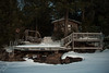 Sunset Cabin (caitlinhoesly) Tags: airbnb newyork sunset cabin lake lakeside lakesidecabin frozenlake pastelparadise loft snow nature portrait