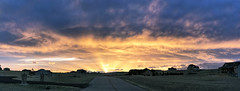 Surprise (northern_nights) Tags: sunset firesky silverlining crepuscularrays cheyenne wyoming cell atmosphericoptics
