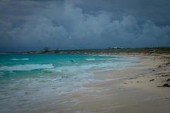 Some stormy clouds around Staniel Cay