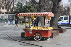 Street Snacks (lazy south's travels) Tags: istanbul turkey turkish street food seller vendor cart tourist sultanahmet square hippodrome road scene urban area snack man