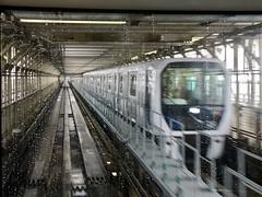 Crossing the Rainbow Bridge on the New Yurikamome Transit automated guideway line. (Steven Vance) Tags: tokyo japan trip travel rainbowbridge yurikamome transit