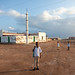 Somali boys in front of a mosque, Awdal region, Zeila, Somaliland