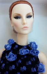La vie en bleu Elyse Jolie redhead (billygirl19) Tags: fashionroyalty fr fr2 elyse elise jolie jason wu integrity toys 10th anniversary la vie en bleu blue dress doll convention supermodel 2017