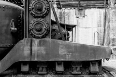 MACHINATIONS (jack .b.) Tags: nikond810 nikon3514g bw forms lines rivets alabama slossfurnace old vintage birmingham usa traincar industrial