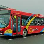 GO NORTH EAST 5231 NK55OLJ IS SEEN AT SUNDERLAND INTERCHANGE ON 31 MARCH 2005