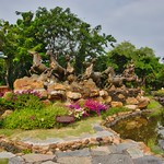 Bronze sculpture in the Garden of the Gods in Muang Boran, Samut Phrakan, Thailand thumbnail