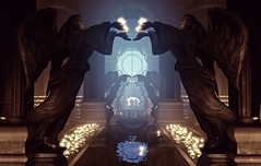 """""""Holy place"""" (L1netty) Tags: bioshockinfinite bioshock irrationalgames 2kgames pc game games gaming pcgaming videogame videogames reshade screenshot 4k color indoor light candles reflection architecture sculptures figures people"""