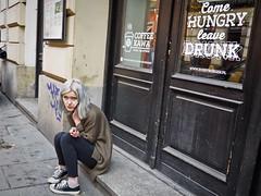 Krakow -  -3243116 (Neil.Simmons) Tags: poland krakow streetphotography candid woman girl bobbyburger bobby burger coffee kawa