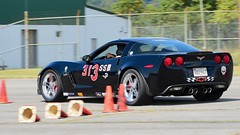 Vette blur... #2 (R.A. Killmer) Tags: autocross racer race racing fast silver black cone cumberlandairportautocross 2017 horsepower slide skill blur