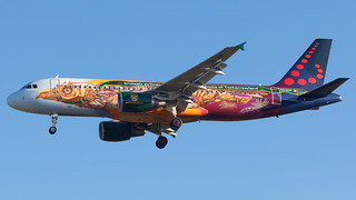 BCN - Brussels Airlines Aibus A320 OO-SNF