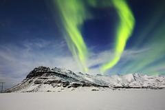 Crown of light (georgemoga) Tags: aurora auroraborealis iceland mountain night northernlights sky snow stars easternregion is