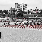 """'This is about the human cost of war': Los Angeles beach goers are reminded about sacrifices for independence by memorial"" ⚖️ thumbnail"