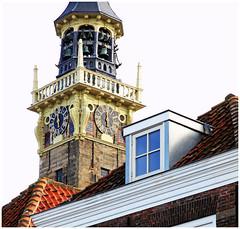 Le beffroi de l'Hôtel de Ville, Veere, Walcheren, Zeelande, Nederland (claude lina) Tags: claudelina nederland hollande paysbas zeelande zeeland veere beffroi cloches