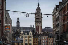 Lille, France (Adrià Páez) Tags: lille france city architecture buildings sky clouds flanders vlaanderen rijsel rysel hautsdefrance canon eos 7d mark ii 50mm capital french europe grand place beffroi town hall belfry