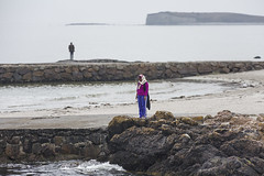 We do like to be beside the sea-side (Frank Fullard) Tags: frankfullard fullard sea seaside beach prominade prom ocean galwaybay bay atlantic tide surf salthill galway irish ireland island candid street tourist visitor portrait pensive rock people sky landscape