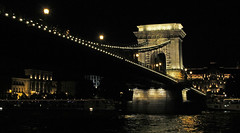 The Chain Bridge - Budapest (Ellsasha) Tags: budapest bridges chainbridge nightphotography night dark illuminated illumination centraleurope hungary water waterway reflection lights