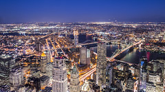 NEW YORK (talv_ss) Tags: newyork nyc bigapple brooklyn brooklynbridge worldtradecentre observationdeck lighttrails travel nikon d610 usa city citylife cityscape longexposure oneworldcentre nightphotography night newyorkcity manhattan lowermanhattan downtown urban lights architecture skyline skyscrapers