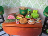 2. St Pat's party table (Foxy Belle) Tags: doll party st patricks day patrick irish green celebrate holiday barbie food glitter hat table chairs wooden 16 scale playscale dollhouse miniature diorama room wallpaper decoration shamrock vintage