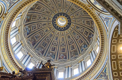 Kuppel des Petersdoms (Markus Wollny) Tags: city vatikan rom cittàdelvaticano vatikanstadt it