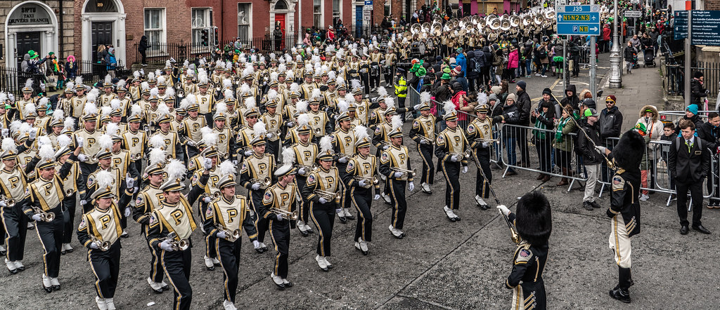 PURDUE ALL AMERICAN MARCHING BAND [DUBLIN PARADE 17 MARCH 2018]-137685