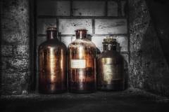 Old Bottles... (hobbit68) Tags: glas flaschen old korken industriegebiet industrie industry bottle bottles lost place ich