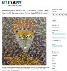 Self-Taught Nigerian Artist Chief Z.O. Oloruntoba (LoisInWonderland) Tags: chiefzooloruntoba outsiderart selftaughtartist painting portrait primitiveart nigerianart artbreakout
