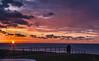 Evening colours (Monika Kalczuga (on&off)) Tags: evening sunset clouds sky purple coastline shoreline sea seaside shore coast eveningcolours couple dijk huisduinen denhelder netherlands holland europe serene calm northsea nature