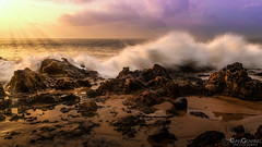 Rocks and Waves 02 (Evan Gearing (Evan's Expo)) Tags: hawaii kamaolebeachparkii maui places type beach crashing hi oceanpacific rocks sea sunset water waves kihei unitedstates us