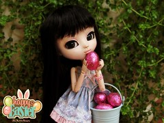 Happy Easter! ♥ (♥ MarildaHungria ♥) Tags: helena pullip fanatica regenerationseries groove doll happyeaster easter chocolate food obitsued obitsu kawaii cute