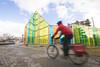 toy church (Trevor Pritchard) Tags: gatineau april 2018 papa hull quebec publicart cyclist bike