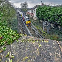 37601 passing Shustoke Station (robmcrorie) Tags: 37601 rail operations group shustoke station train railway warwickshire
